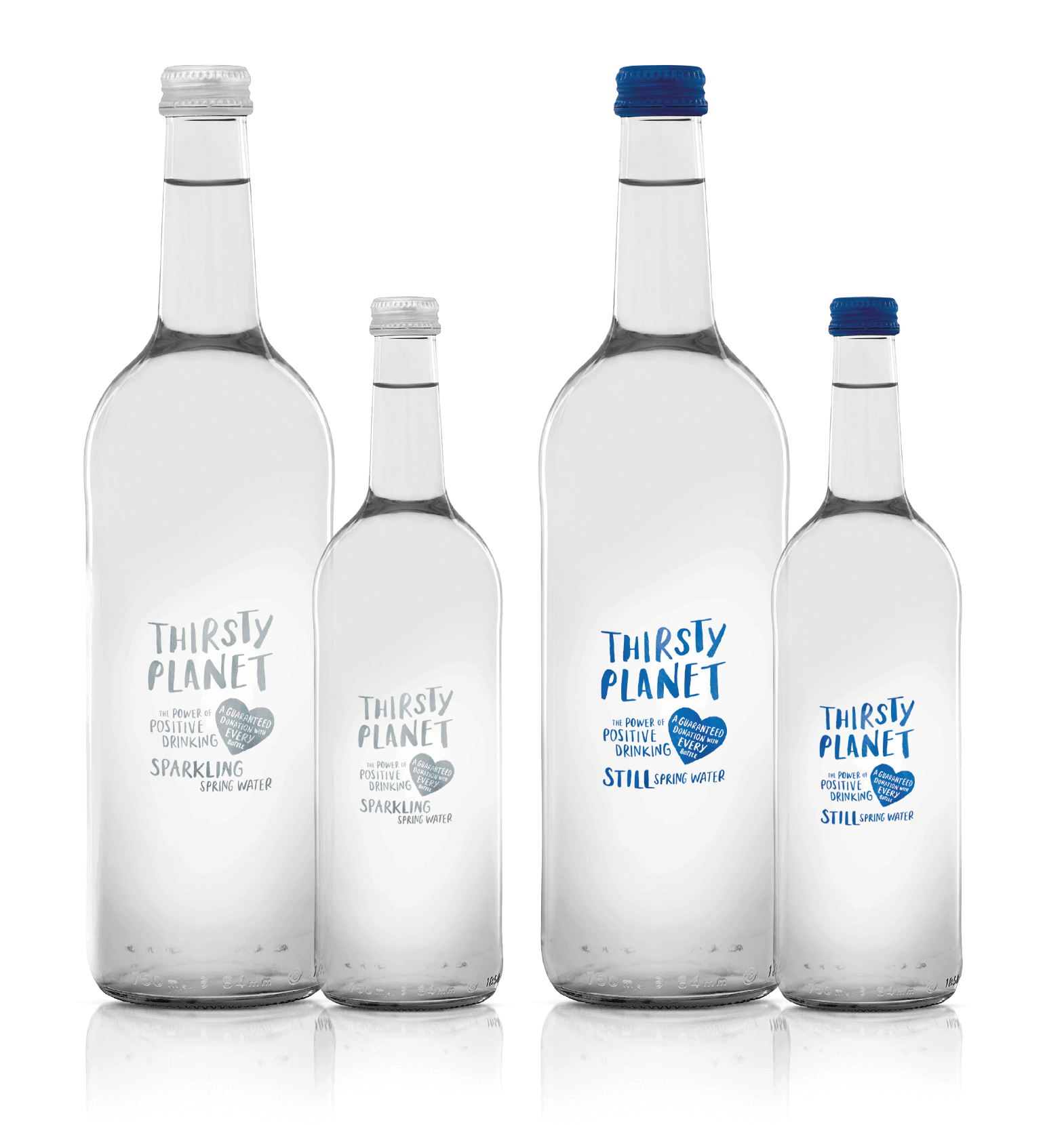 Thirsty Planet's Glass bottle range.