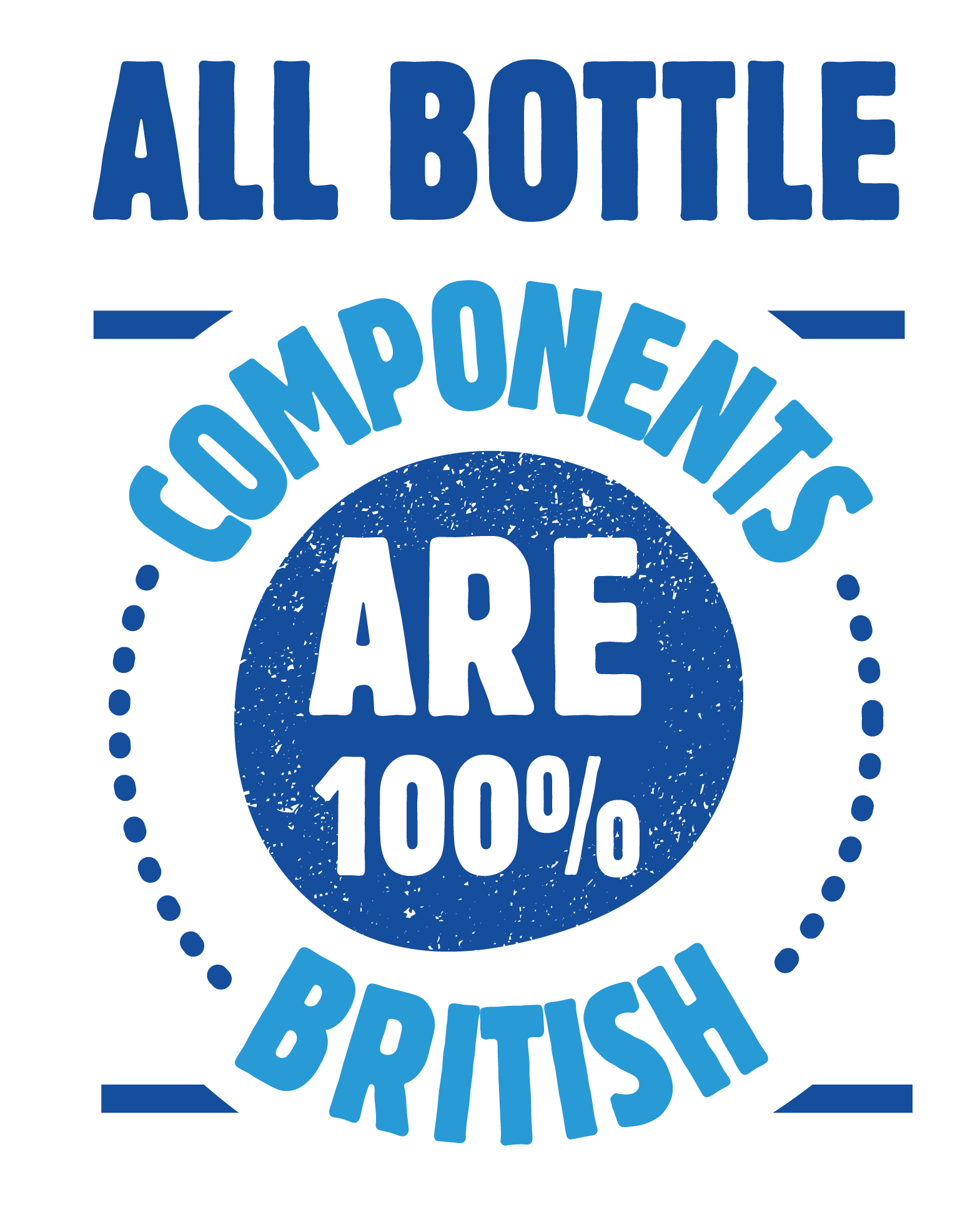 All bottle components are 100% British.